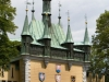 copper weathervanes on turrets