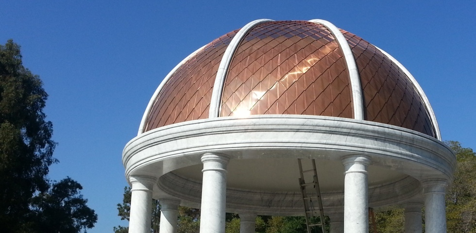 Doem Roofing With Copper Shingles