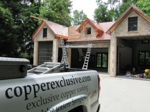 Installing copper shingles