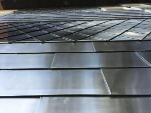 Metal shingles for wall